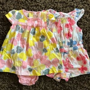 2 toddler jumpers/ summer outfits